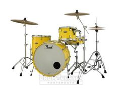 Pearl Decade Maple 3pc Drum Set Solid Yellow DMP943XP/C228