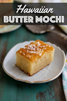 Hawaiian Butter Mochi is a buttery and chewy coconut dessert made with glutinous rice flour. It is a very popular treat in Hawaii that needs to make its way over to the mainland. Once you have a bite, you won't be able to resist another. Hawaiian Desserts, Hawaiian Dishes, Asian Desserts, Just Desserts, Delicious Desserts, Yummy Food, Hawaiian Recipes, Filipino Desserts, Healthy Food