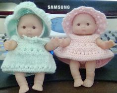 5-inch ITTY BITTY BABY DOLL KNITTING PATTERNs (Free)  Elaine baker,  (ladyfinger) Knitted Doll Patterns, Knitted Dolls, Crochet Dolls, Knitting Patterns Free, Baby Knitting, Crochet Patterns, Free Knitting, Knitted Baby, Free Pattern