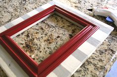 make easy frame from scraps of trim