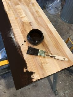 Kitchen Progress: Butcher Block Shelf – Project Palermo Butcher Block Cutting Board, Bamboo Cutting Board, Ikea Corner Desk, Ikea Cart, Palermo, Shelf, Kitchen, Projects, Log Projects