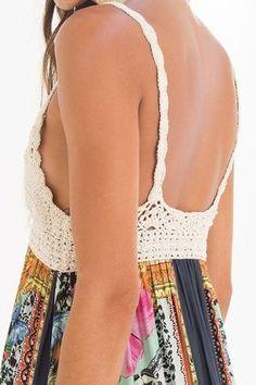 Exceptional Stitches Make a Crochet Hat Ideas. Extraordinary Stitches Make a Crochet Hat Ideas. Débardeurs Au Crochet, Bikini Crochet, Crochet Fabric, Crochet Shirt, Crochet Hooks, Crochet Stitches Patterns, Diy Dress, Boho, Beautiful Crochet