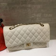 Medium Flap Bag in White Caviar ❤❤❤ it? Order now. Once it's gone, it's gone! Just WhatsApp me +44 7535 715 239, Erwan.  Click my account name for other great items. #l2klChanel #l2klChanel #l2klChanel