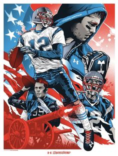 Commissioned Tom Brady piece by Alexander Iaccarino for Under Armour poster series – American Football Tom Brady Wallpaper, 4 Wallpaper, Wallpaper Ideas, New England Patriots Football, Patriots Fans, Patriots Logo, Football Art, Football Memes, Football Season