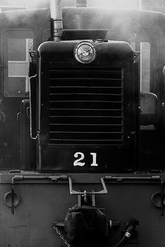 Steam locomotive grill.