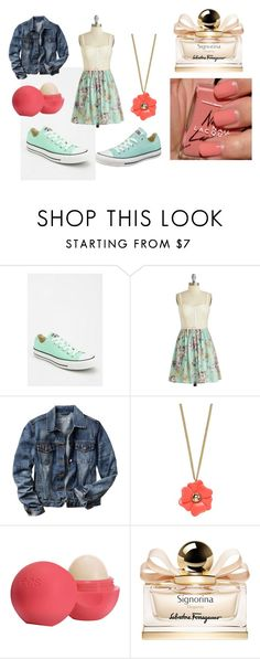 """""""Saturday outfit."""" by camryn360 ❤ liked on Polyvore featuring Converse, Gap, River Island, Topshop, American Apparel and Salvatore Ferragamo"""