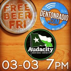 "Repost from @beardedmonk ""Get the first news on @audacitybrewhouse's next Lil' d #craftbeer that they're brewing for @thinlinefest tonight on @dentonradiodotcom! Then party with co-founder and master brewer Doug Smith and Thinline's Mindy Arendt @beardedmonk and drink this new concoction!!"" #denton #dentontx #dentoning #exploredenton #downtownDenton #wddi #dentonslacker"