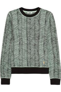 KENZO   Printed cotton-jersey sweatshirt   NET-A-PORTER.COM