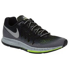 Nike Air Zoom Pegasus 33 Shield Trainers (£110) ❤ liked on Polyvore featuring shoes, sneakers, grip shoes, waffle shoes, waffle trainer, grip trainer and nike