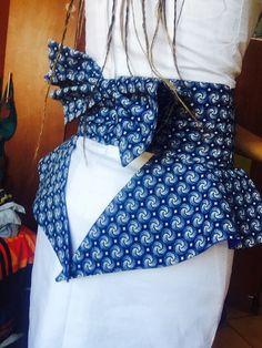 Seshweshwe dress africanprint bow