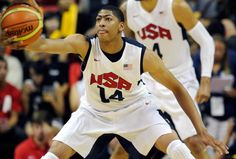 Anthony Davis wins a gold medal at the 2012 Olympics as part of the USA Men's Basketball team.