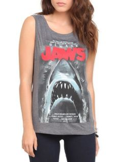Hot Topic Women's Jaws Poster Tank Top