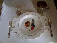Vintage Baby Plate - My Own Plate Poodle