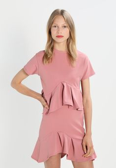 Lost Ink FLARED FRILL - T-shirt z nadrukiem - light pink - Zalando.pl