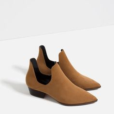 OPEN ANKLE BOOTS WITH HEEL from Zara
