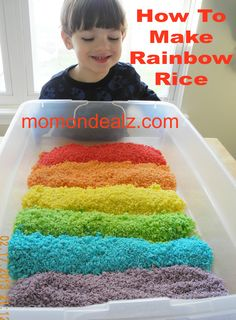st patrick's day crafts for kids to make   Kids Frugal Fun: Easy St Patricks Day Crafts-How To Make Rainbow Rice