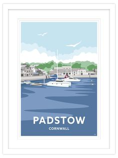 Padstow Strand Cornwall Travel Framed Art Print by Will Thompson Portrait orientation Image size 450 x 670 mm Framed size 670 x 890 mm Hand framed in gloss white frame Arrives ready to hang Railway Posters, Wall Collage, Love Art, Cornwall, Framed Art Prints, Countryside, Bathroom Ideas, Coastal, Scene