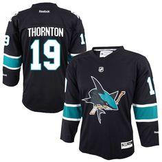 Joe Thornton San Jose Sharks Youth Replica Player Jersey - Black - $51.99