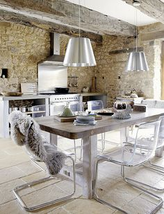 Love the lighting!    a country home in the dordogne, france by the style files, via Flickr