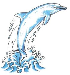 Dolphin Jumping Out Of Water Tattoo