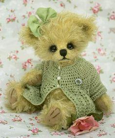 Pretty green crochet sweater
