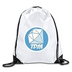 4d9cf2661c Youtube DanTDM Logo Port Bag Drawstring Backpack MDOYA Gym Backpack