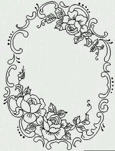 Ideas for embroidery flowers pattern templates floral design Embroidery Flowers Pattern, Embroidery Letters, Paper Embroidery, Floral Embroidery, Flower Patterns, Embroidery Stitches, Embroidery Designs, Folk Embroidery, Lace Patterns