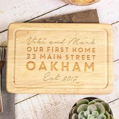 Cook up a storm! This wonderful chopping board is the perfect house warming gift! Tap to shop! Free UK Shipping on all orders! First Home Gifts, New Home Gifts, Personalised Chopping Board, Wooden Chopping Boards, Moving In Together, Cook Up A Storm, Personalised Gifts, Free Uk, Ideal Home
