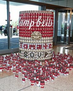 a Can of Campbell's soup made of…cans of Campbell's soup