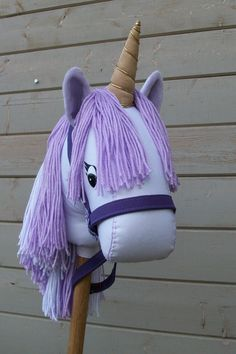 Stick Unicorn Purple by RusticHorseShoe,