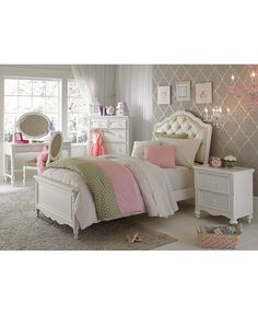 Celestial Kid's Upholstered Twin Bed - Furniture - Macy's