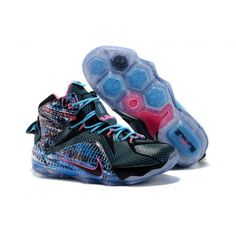 1d26e2ec198 High quality and Cheap Nike LeBron 12 23 Chromosomes Black Blue Pink  Sneaker on sale –
