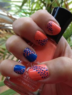 When it comes to nail art, nothing gives you quite as much for your buck as polka dots! So quick, so easy and a great result every single time. I was really feeling these two colors today. I used m...