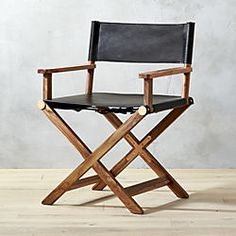 curator black leather chair