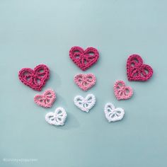 Decorative crochet hearts                                                                                                                                                      More                                                                                                                                                                                 More