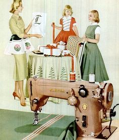 Retro Sewing Singer sewing machine Christmas ad from 1955 - Singer sewing machine Christmas ad from Sewing Art, Sewing Rooms, Sewing Crafts, Sewing Projects, Sewing Spaces, Art Projects, Vintage Christmas Crafts, Christmas Ad, Holiday Crafts
