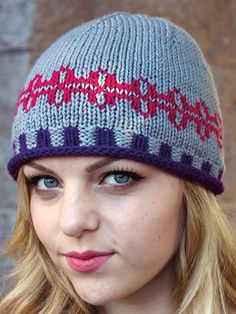 Kristin's Hat, Free Pattern Size 5 (3.75mm) 16-inch circular needle Size 7 (4.5mm) double-point needles (2) and 16-inch circular needle or size needed to obtain gauge