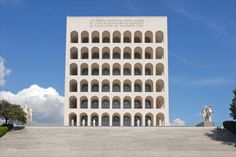 Palazzo della Civiltà Italiana AKA Colosseo Quadrato (Square Colosseum) designed by Giovanni Guerrini, Ernesto Bruno La Padula, and Mario Romano