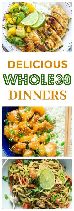 7 Delicious and Easy #WHOLE30 Dinners to try THIS WEEK!