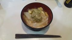It is the atmosphere such as the haiku in Japanese style. I sprinkled miso soup to rice with remaining Japanese radish and fried bean curd of the day before. ; to starve; tangle flakes. Basho Matsuo with the kitchen knife lets eyes become bloodshot at any moment and seems to come out. I dream. http://www.bad-food.kandamori.net/2017/02/blog-post.html #朝食 #夕食 #昼食 #ランチ #グルメ #ディナー #食事 #料理 #食料 #食べ物 #ご飯 #Breakfast #dinner #lunch #gourmet #meal #Dish #food #rice #cook #cooking