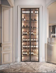 Studio › Fabulous story in Paris Küchen Design, House Design, Wine Cellar Design, Wine Cellar Modern, Home Wine Cellars, Wine Wall, Suites, Wine Storage, Luxury Home Decor