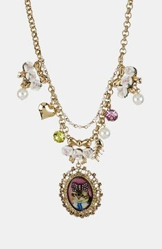 Betsey Johnson 'Vintage Bow - Kitty Cameo' Pendant Necklace available at #Nordstrom
