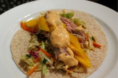 Must try making this recipe for Seared Tuna Wraps with Mango, Asian Slaw & Creamy SrirachaSauce - looks amazing!
