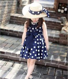 Polka Dot Dress - Sizes 2T - 7 - How cute would this be for your little ones first day of school?