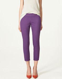 Purple trousers? Zara is genius!