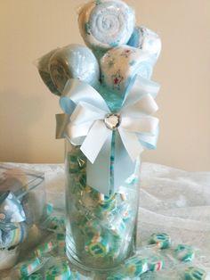 Blue Lollipop Bouquet Candy Vase (Baby Boy). $19.00, via Etsy.