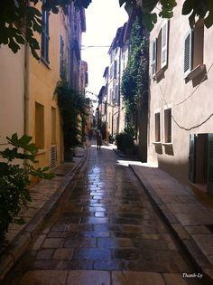 Pavés de St-Tropez, juillet 2014.