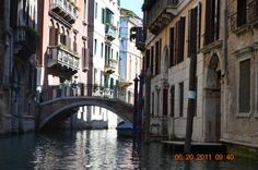 Venice, Italy, one of the many bridges over the canals . . . been there