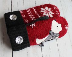 etsy sweater mittens recycled sweaters miracle by miraclemittens
