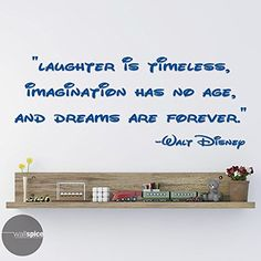 Walt Disney Quote Laughter Is Timeless Vinyl Wall Decal Sticker >>> Learn more by visiting the image link-affiliate link.